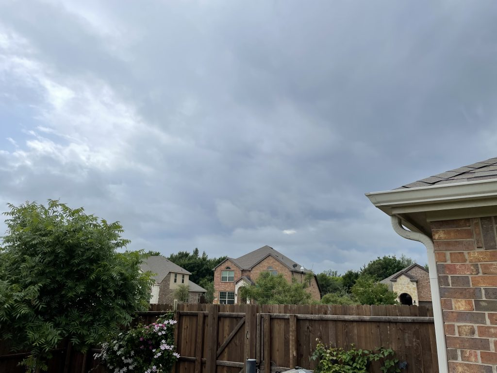 A look at the sky on a cloudy day.